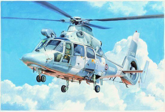 05108 Trumpeter Warcraft Plane Model 1 35 Franch A565 Panther Helicopter