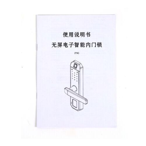 Schwarz Digitales Smart Türschloss Fingerprint Fingerabdruck Passwort Türschloss