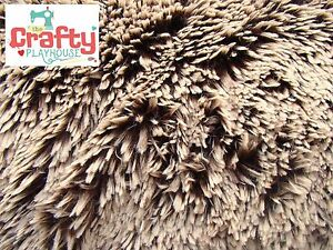 Frosted-Brown-Beige-Shannon-Shaggy-Fluffy-Cuddle-Plush-Soft-Baby-Blanket-Fabric