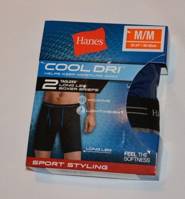 d2c3f9125695 Mens Underwear Hanes Boxer Briefs 2 Pack Size M | eBay