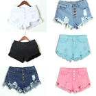 Women High Waisted Washed Ripped Hole Short Mini Jeans Denim Pants Shorts Summer