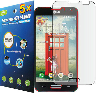 5x Clear LCD Screen Protector Guard Cover Film LG Optimus L70 MS323 / LG Pulse