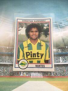 PANINI FOOT 93 RC  ROOKIE CHRISTIAN KAREMBEU #163 1993 FC NANTES FRANCE ????????