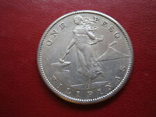 "PHILIPPINES 1908-S ONE PESO ""NICE LARGE SILVER COIN"" US ADMIN"