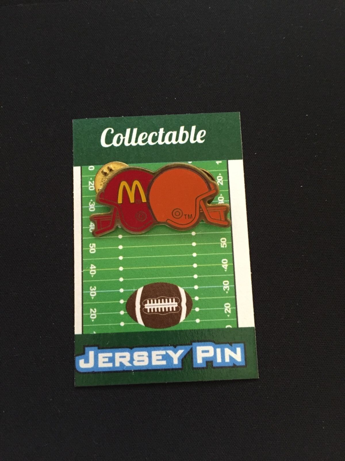 Cleveland Cleveland Cleveland Braun Revers Pin-Very Selten 604ms Mcdonald's Retro Helmet-Collectable 63712b