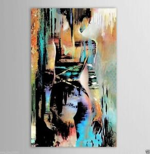 YHLM76 100/% hand-painted MODERN abstract bull OIL PAINTING ART wall on CANVAS