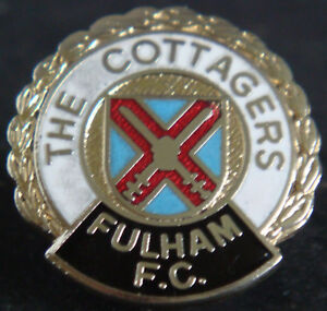 Details about FULHAM FC Vintage Club crest badge Maker COFFER LONDON Brooch  pin 25mm x 26mm