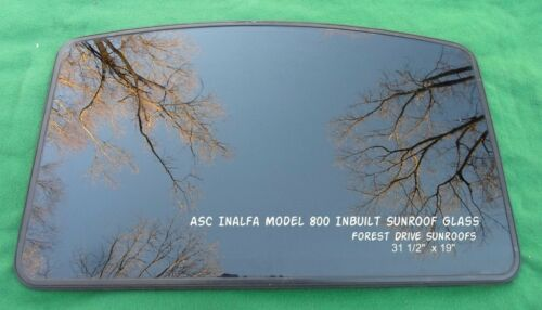 AFTERMARKET ASC INALFA MODEL 800 INBUILT SUNROOF GLASS PANEL WITH BRACKETS