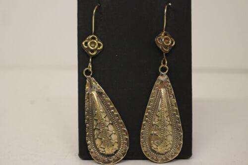 Afghan Vintage Drop Dangle Earrings Authentic Traditional Tribal Jewellery
