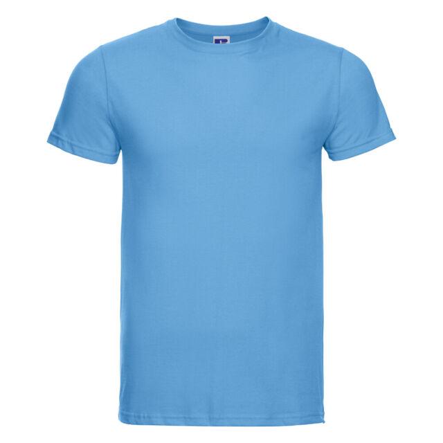 Crew Neck Short Sleeve Plain T-Shirt Russell Men/'s HD Slim Fit Tee R-165M-0
