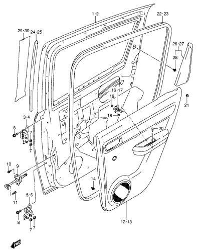 2000 Ford Focus Door Diagram