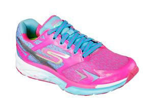 5acc026e0730b7 Skechers Go Run Forza Women's Running Shoe - 14105 - Hot Pink / Blue ...