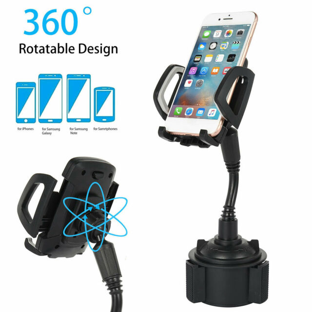 Car Phone Mount Cup Holder Stand Universal 360° Adjustable Cradle Mobile Cell