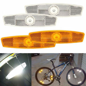 1 Pair bicycle spoke reflector warning light bicycle wheel rim reflective NICA