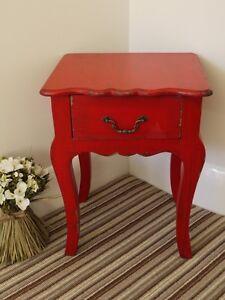 Rouge-1-tiroirs-Lampe-de-table-effet-vieilli-orne-style-francais-petit-chevet-armoire-nouveau