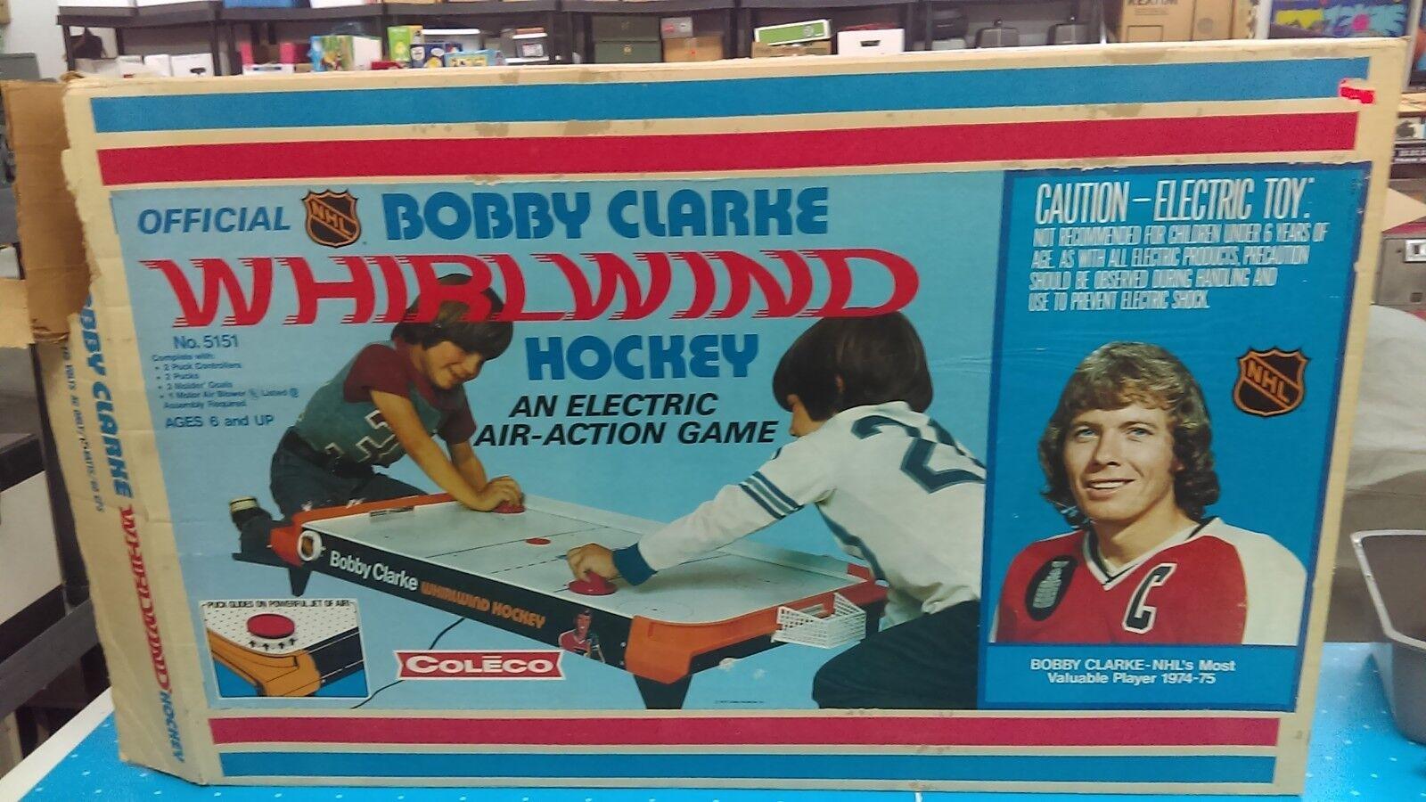 1975 Bobby Clark Whirlwind Air Hockey Coleco (caja únicamente) difícil de encontrar 36 X 24 X 4