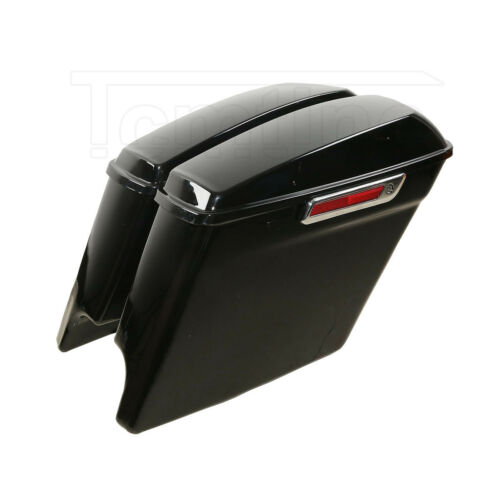 """5/"""" Stretched Extended Saddlebags W//Latch Key Fit For Harley Touring Models 14-20"""