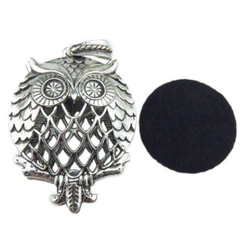 Vintage Copper Aromatherapy Silver Taiji Tree of Life Owl Flower Locket Diffuser