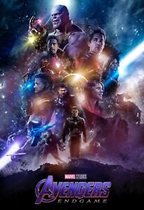 Superhero Fantasy Movie Art Large Poster Marvel Avengers Canvas Pictures
