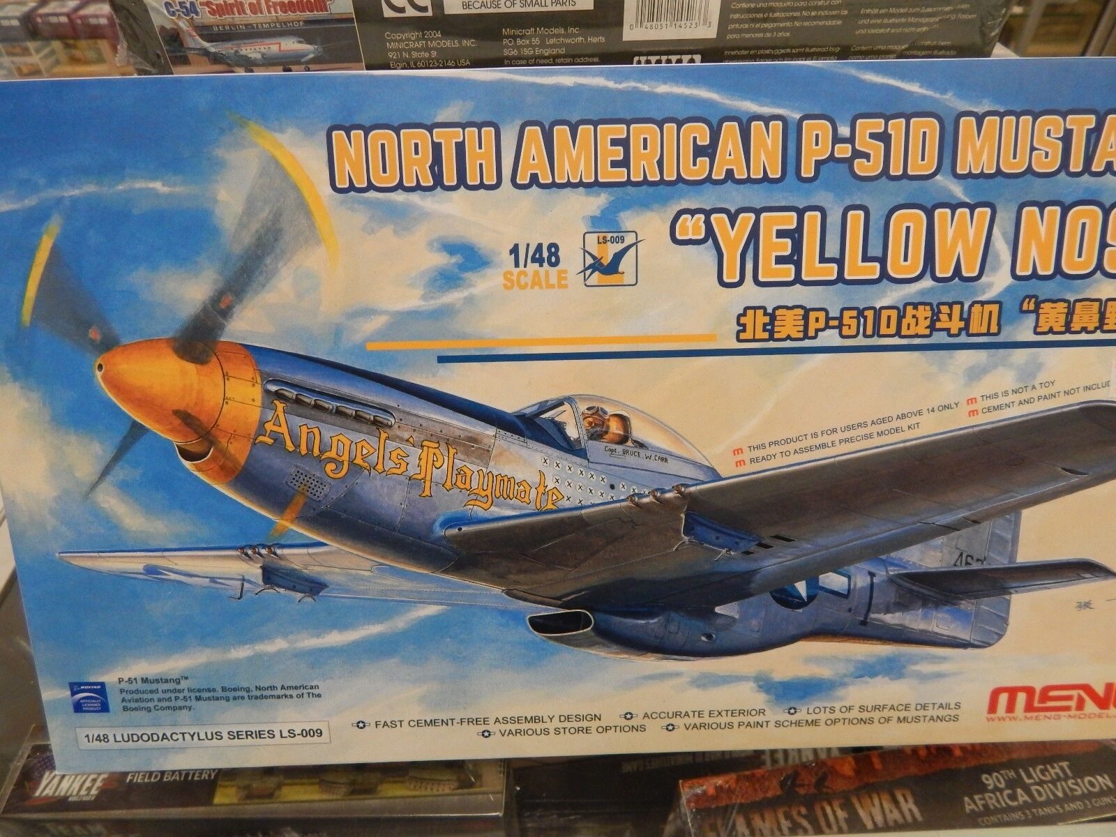 1 48 SCALE PLASTIC MODEL KIT By MENG P51-D MUSTANG