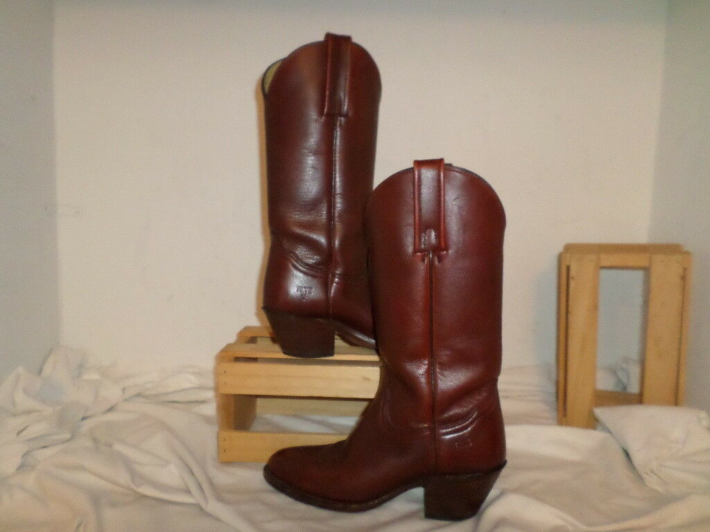 WOMEN FRYE BROWN LEATHER WESTERN BOOTS SIZE 6.5M
