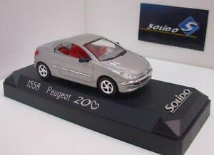 AUTO-1-43-SOLIDO-PEUGEOT-206-GRIGIO-CHIARO-METALLIZZATO-1558