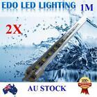 2X12V Cool Warm White 1M 5050 SMD Bar Boat Camping LED Strip Light Waterproof