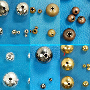 3mm-4mm-5mm-6mm-8mm-10mm-Round-Smooth-Metal-Spacer-Beads-Seamless