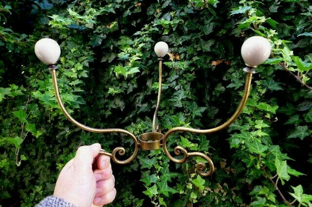 Gancio di metallo 3 Poli Con Palla Di Ceramica Manopole Bellissimo Design unico effetto oro