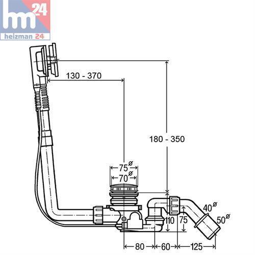 Viega Ab- u. Überlaufgarnitur Multiplex-Trio F 675462 675462 675462 für Mittelanschluss mit M5 9ff80d