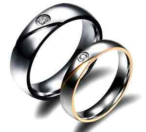 Anello-Anelli-Coppia-Fedi-Fede-Fedine-Fidanzamento-Nuziali-Cuore-Cristallo-Paio