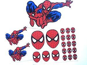 Spider Man Logo Decal Sticker Set Laptop Comic Superhero Ebay