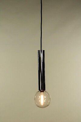 Staff Pendel Leuchte Motoko Ishii Glas Kugel Chrom Hänge Lampen 70er Jahre Vtg
