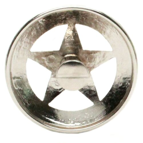 """Engraved Gold Star Screw Back Concho 1-3//4/"""" 7464-01"""