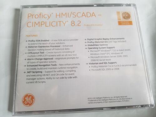 GE  PROFICY HMI//SCADA-CIMPLICITY 8.2 SOFTWARE
