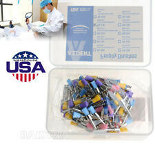 100pcs Dental Nylon Bowl Polishing Polisher Prophy Flat Type Colorful Brushes