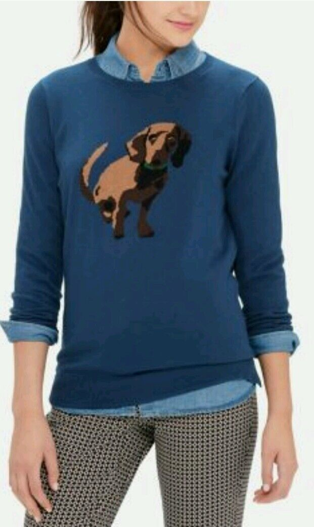 The Limited Dog Intarsia Sweater Womens S M L XL New With Tags