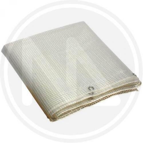 TELONI TELONE OCCHIELLATO RETINATO PVC PAPILLON MT 3.50X2.50 BIANCO TRASPARENTE