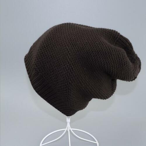 Men/'s Winter Thick Wool Knit Beanie Cap Warm Fleece Lined Cuff Skull Ski Hat