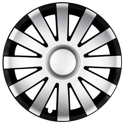 radkappen 15 zoll aga schwarz silber f seat saab skoda radblenden radzierblenden ebay. Black Bedroom Furniture Sets. Home Design Ideas