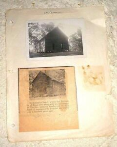 VINTAGE REAL PHOTO McMAHON'S CHAPEL SAN AUGUSTINE SABINE COUNTY TEXAS 1948