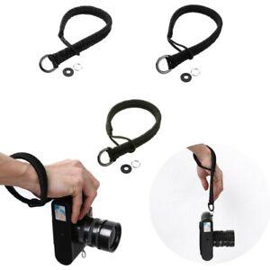 38cm-Camera-Cinturino-Da-Polso-Cordino-Intrecciato-Paracord-Braccialetto-Corda-Hand-Grip-all-039