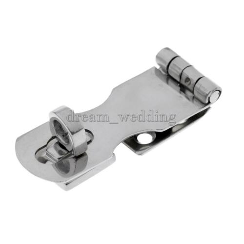 Heavy Duty Marine Cast Edelstahl Sicherheit Swivel Lock Haspe Latch 6.5cm
