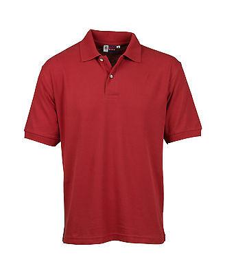 Mens US Basic Polo Shirt Casual Workwear Pique Cotton Short Sleeve Top T Shirt