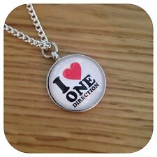 One**direction ** LOVE **  Direction Heart 1D necklace