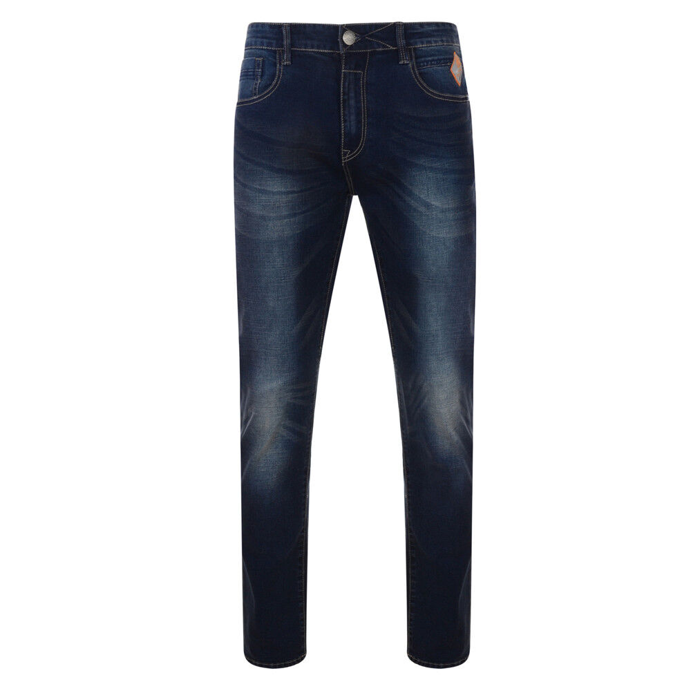 Sergio Mens Plus Size Washed Leg Comfort fit Stretch Fashion Jeans - 40-60 Waist