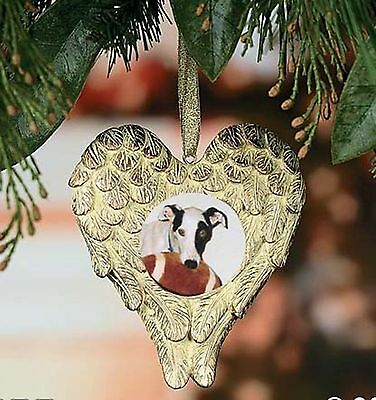 Angel Wings Photo Ornament - remember a beloved pet