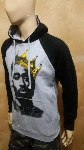TUPAC Shakur KING Rangla PULLOVER HOODIE 2pac WEST COAST RAPPERS NWA LA HIP HOP