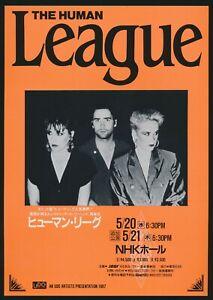 1986-The-Human-League-Japan-Music-Concert-English-Pop-Band-Tour-Flyer-Handbill