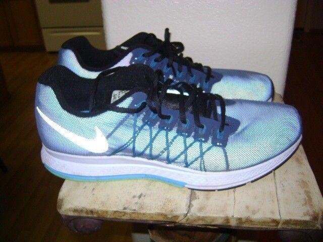 Nike Air Zoom Pegasus 32 Flash Trainer Shoe Squardron Blue Night Factor  Sz 12